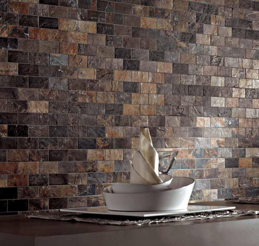Brick Flooring India: Natural Slate Multicolour Slate Brick