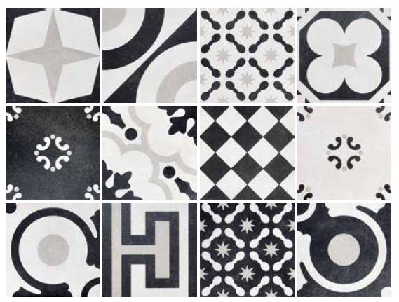 Brady Tile Imports Cementine Black And White Mix