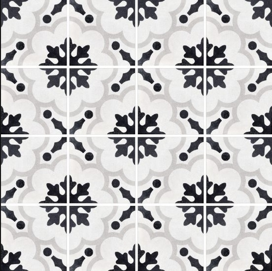 Brady Tile Imports Cementine Black And White 2