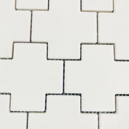 Cross Mosaic Gloss White