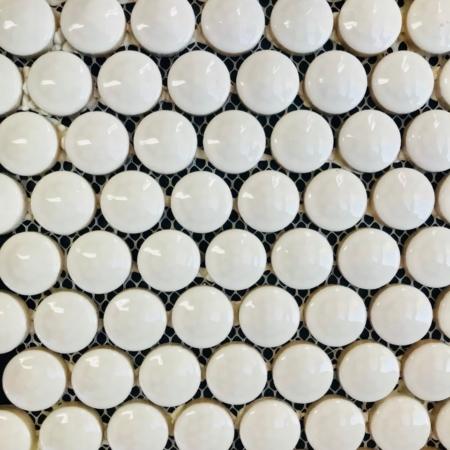 Golf Ball Mosaic gloss white